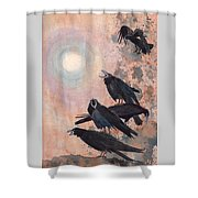 Raven Party Shower Curtain