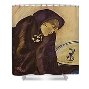 Raven - The Absinthe Drinker Shower Curtain