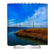 Ravenal Bridge Charleston South Carolina Shower Curtain