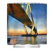 Ravenel Bridge Shower Curtain