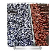 Ravens And Orioles Nonpareils Shower Curtain