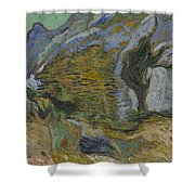 Ravine With A Small Stream Saint Remyde Provence  October 1889 Vincent Van Gogh 1853  1890 Shower Curtain