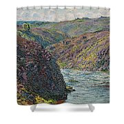 Ravines Of The Creuse At The End Of The Day Shower Curtain