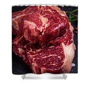 Raw Beef Steak Shower Curtain