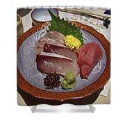 Raw Fish Sashimi Plate - Kyoto Japan Shower Curtain