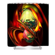Raw Fury Abstract Shower Curtain