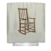 Raw Hide Bottom Rocker Shower Curtain
