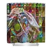 Raw Impression Shower Curtain