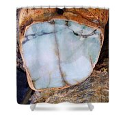 Raw Jadite Rock Shower Curtain