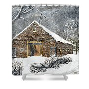 Ray Emerson's Old Barn Shower Curtain by Jack Skinner