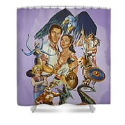 Ray Harryhausen Tribute Seventh Voyage Of Sinbad Shower Curtain