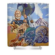 Ray Harryhausen Tribute The Mysterious Island Shower Curtain