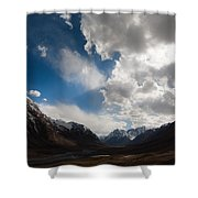 Ray Of The Sky Shower Curtain by Konstantin Dikovsky
