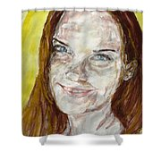 Rayah Newman, Portrait Shower Curtain