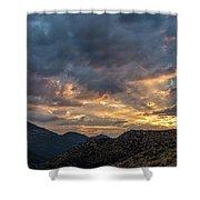 Rays Above Tecate Peak Shower Curtain