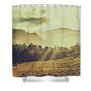 Rays Of Dusk Shower Curtain