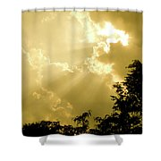Rays Of Glory Shower Curtain