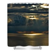 Rays Of God  Shower Curtain
