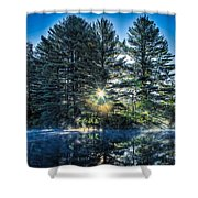 Rays Of Light On The Androscoggin River Shower Curtain