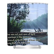 Rays Of Light - Place To Ponder Shower Curtain