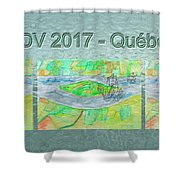 Rdv 2017 Quebec Mug Shot Shower Curtain