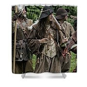 Re-enactment Soldiers Shower Curtain