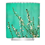 Reach - Botanical Wall Art Shower Curtain