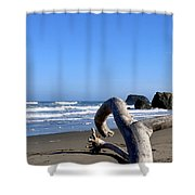 Reaching Back To The Sea Shower Curtain