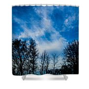 Reaching For Blue Shower Curtain