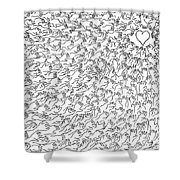 Reaching For Love Shower Curtain