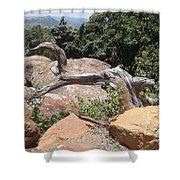 Reaching For Summits Shower Curtain