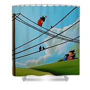 Reaching New Heights Shower Curtain by Cindy Thornton