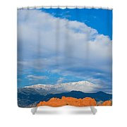 Reaching The Clouds Above Fourteen Thousand Feet  Shower Curtain