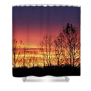 Reaching West Shower Curtain