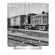 Reading 467 Bw Shower Curtain