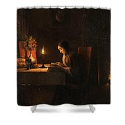 Reading By Candlelight Shower Curtain