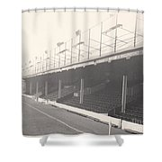 Reading - Elm Park - Norfolk Road Stand 1 - Bw - 1968 Shower Curtain