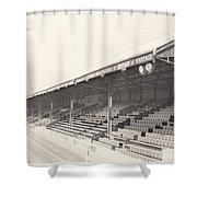 Reading - Elm Park - Norfolk Road Stand 2 - Bw - 1970 Shower Curtain