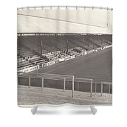 Reading - Elm Park - Norfolk Road Stand 3 - Bw - 1970 Shower Curtain