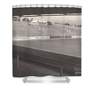 Reading - Elm Park - Reading End 1 - Bw - 1968 Shower Curtain