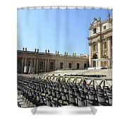 Ready For Pope's Appearance Shower Curtain
