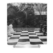 Ready Set Chess Shower Curtain