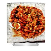 Ready To Serve Food Shower Curtain