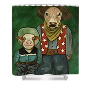 Real Cowboys 3 Shower Curtain