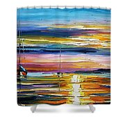 Real Sunset Shower Curtain