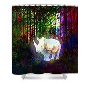 Real Unicorn Shower Curtain