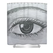 Realistic Eye Shower Curtain