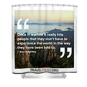 Reality Hits Shower Curtain