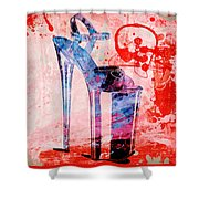 Big Bad Stiletto  Shower Curtain
