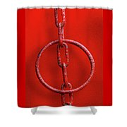 Really Red Shower Curtain